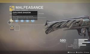 Rewolwer Malfeasance dostępny w Destiny 2: Porzuceni