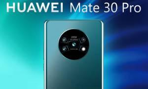 Huawei Mate 30 Pro na zdjęciu z czystym Androidem