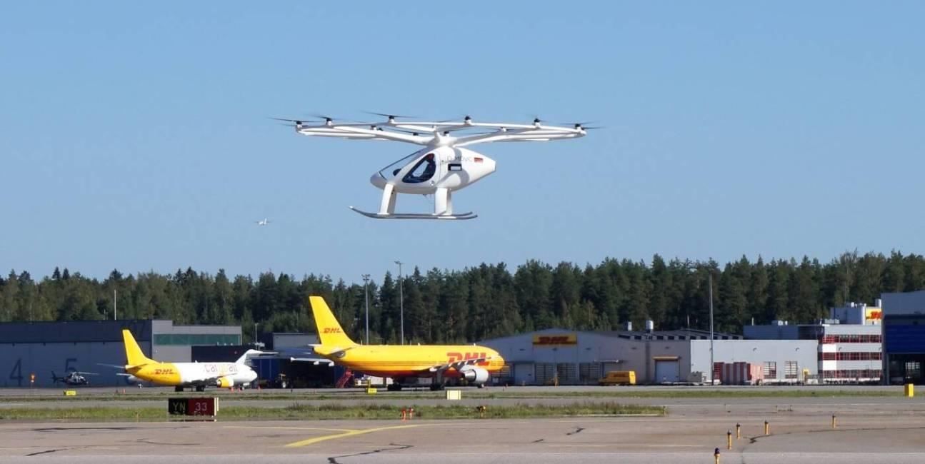 Volocopter odbył pierwszy lot na funkcjonującym lotnisku