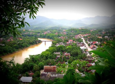 The view of Luang Prabang from Mount Phou Si