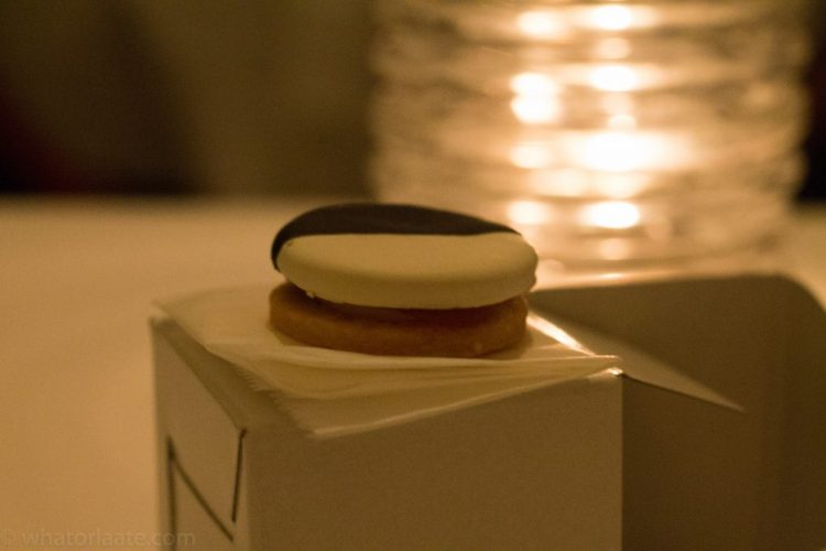 Eleven Madison Park - Black and White - Savoury Cookie with Apple and Cheddar