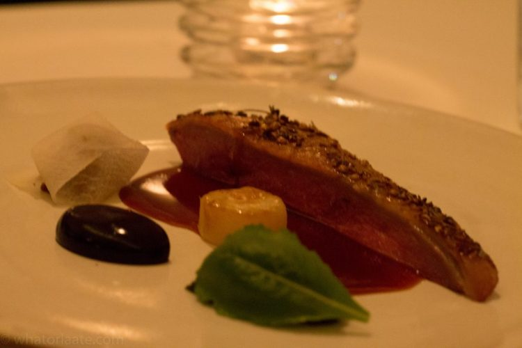 Eleven Madison Park - Duck glazed with Honey and Lavender with Turnip and Huckleberry