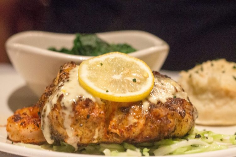 Fresh Grouper & Shrimp - wood grilled grouper, lightly blackened and topped with three jumbo shrimp and a fresh citrus aioli.