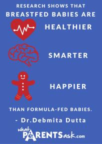 Breastfed babies are healthier smarter happier