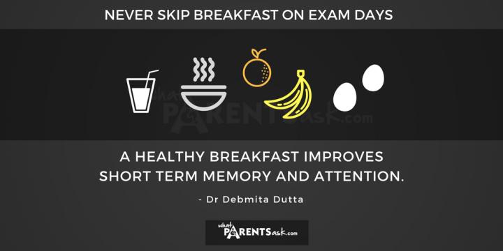 breakfast on exam days