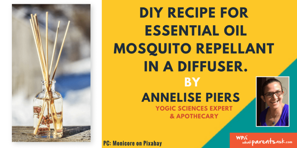 natural mosquito repellant with essential oil