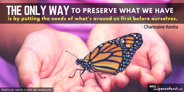 the only way to preserve what we have