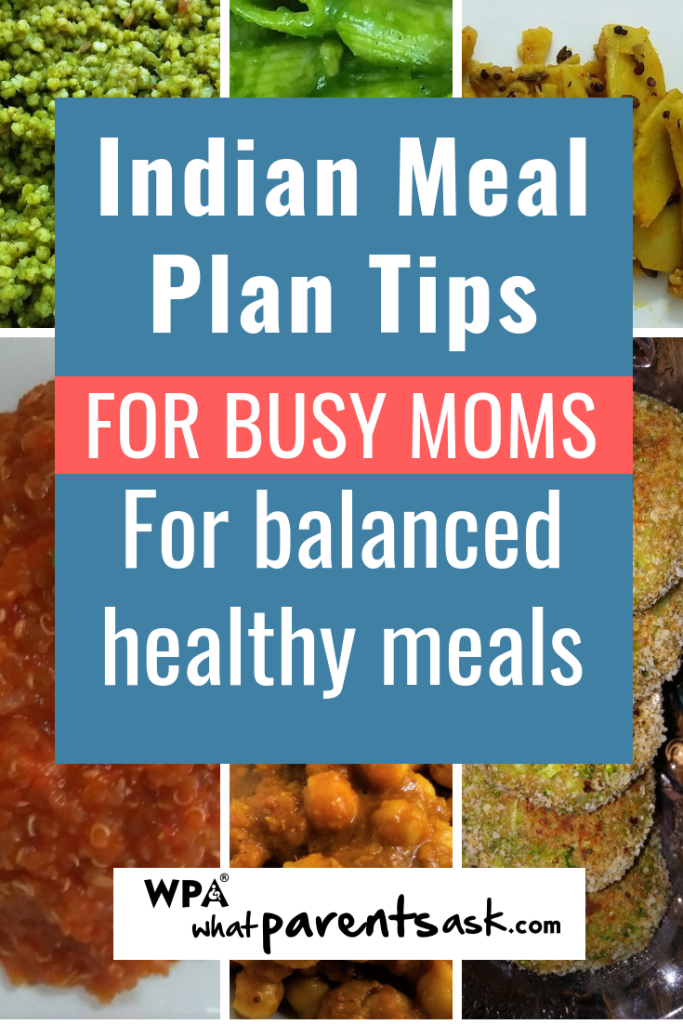 indian meal plan for a week
