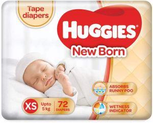 Huggies New Born Taped Diapers