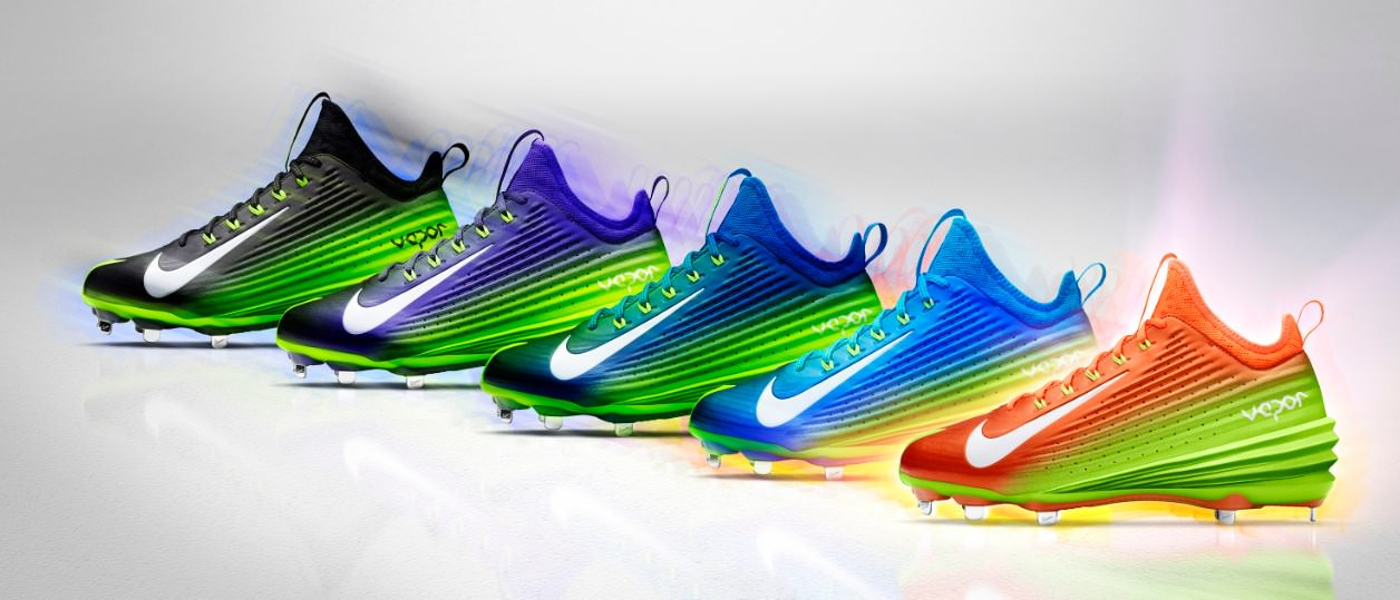 new arrivals 1b5a6 daf02 Nike Lunar Vapor Trout Spectrum Collection (All Star 2014 Cleats)