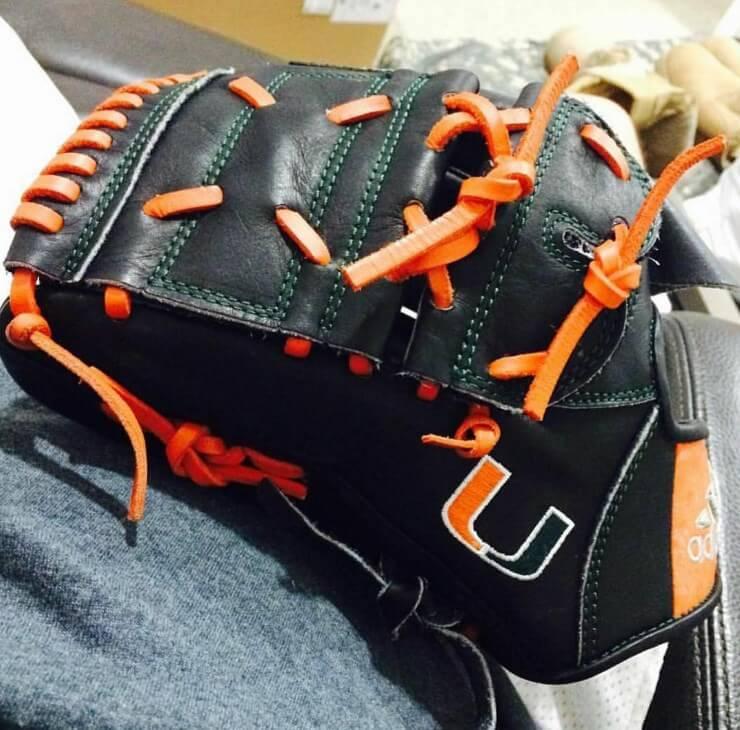 @glovesbyguasch U Miami adidas Glove