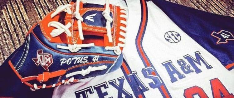 @txagbsbmagic President Bush Easton Glove