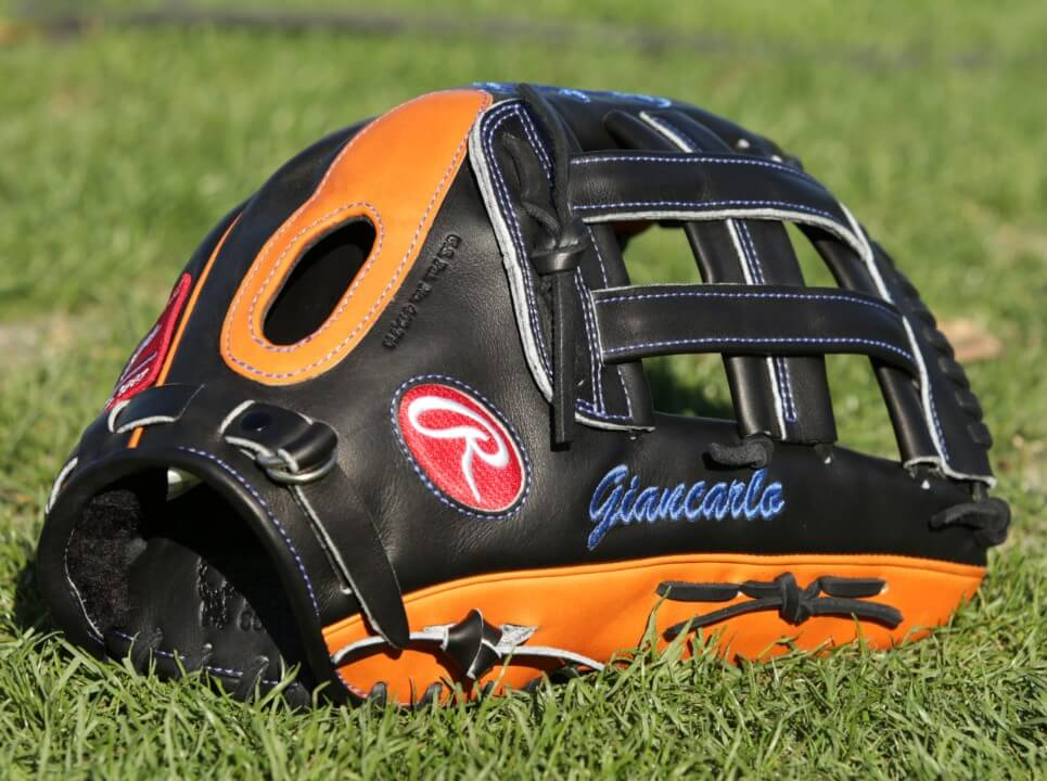 Giancarlo Stanton Rawlings Heart of the Hide PROS27HFB Glove 3
