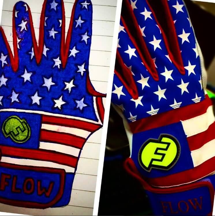 Tyler Flowers Force3 USA Batting Gloves