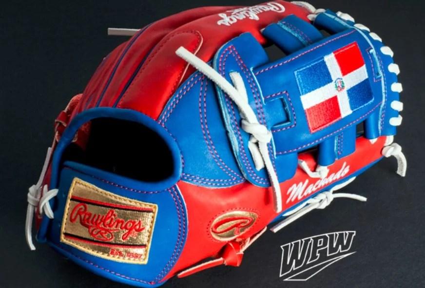 Manny Machado Flag WBC Glove