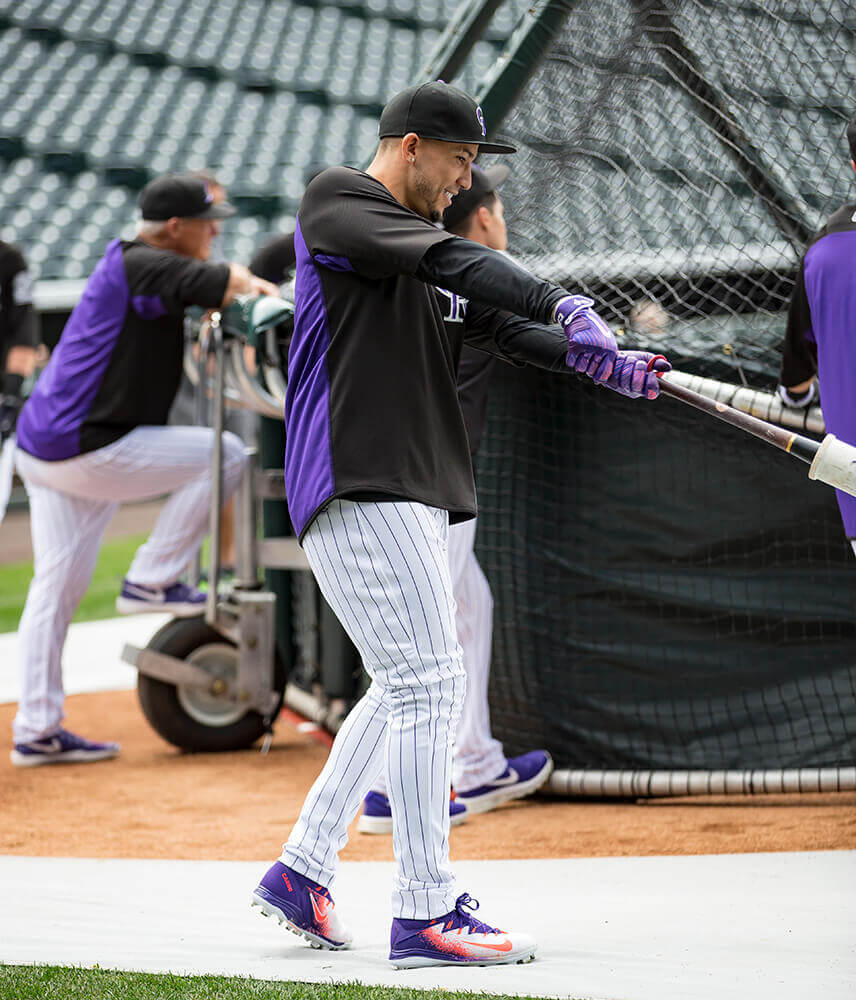 Carlos Gonzalez Cleats and Gloves