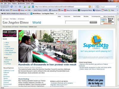 BBC Caught In Mass Public Deception With Iran Propaganda SMALL iran protest rally lie1