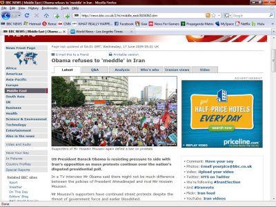 BBC Caught In Mass Public Deception With Iran Propaganda SMALL iran protest rally lie2