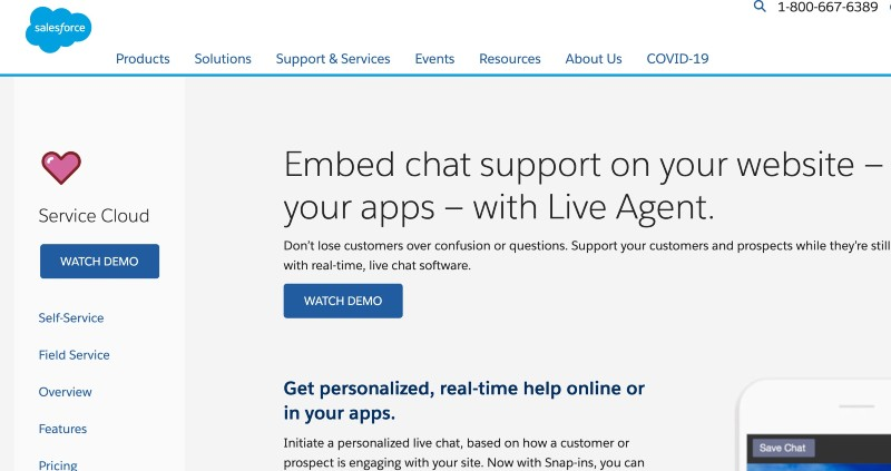 SalesForce - Live Chat Software for Customer Service