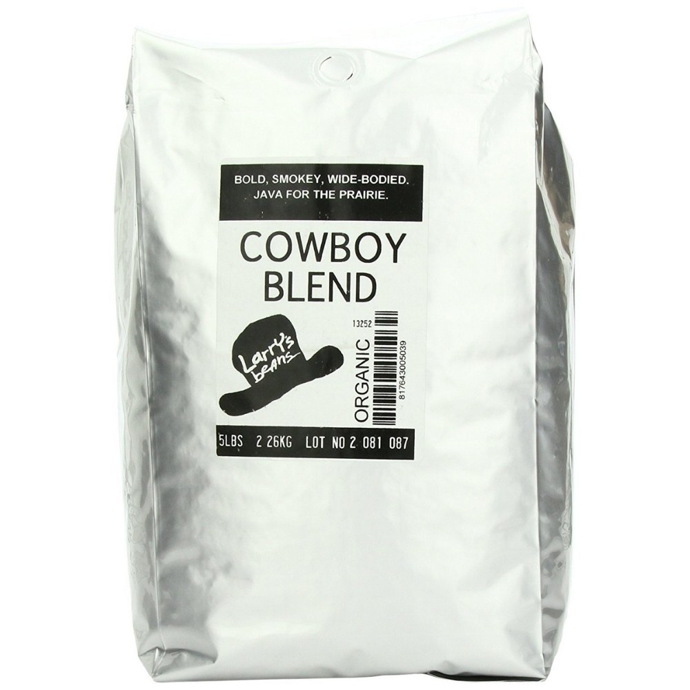 Larry's Coffee Organic Fair Trade Whole Bean, Cowboy Blend