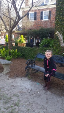 Lainey in front of Main Garden
