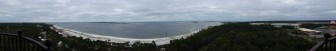 Panorama from the top of the lighthouse.