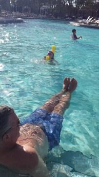 Grandpa in the pool