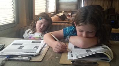 Asleep at school.