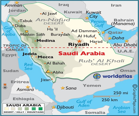 What Is The National Map of Saudi Arabia?