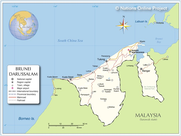 What Is The National Map of Brunei?