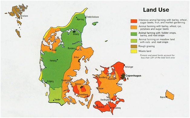What Is The National Map of Denmark?