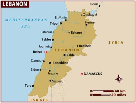 What Is The National Map of Lebanon?