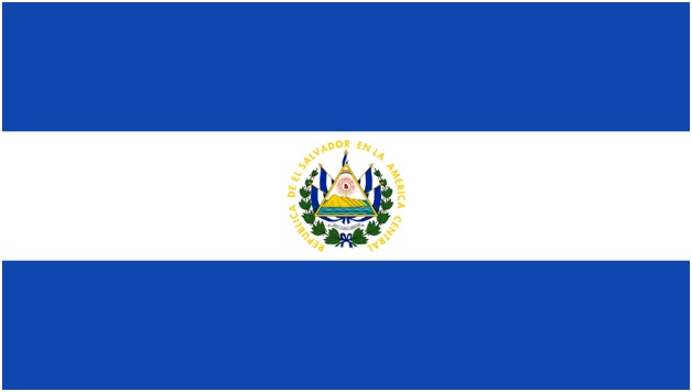 What is The National Flag of El Salvador?