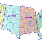 Colorful Time Zone Map Of Usa Whatsanswer