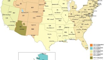 detail time zone map of usa