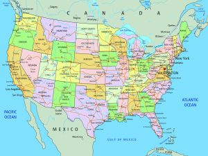 Large And Attractive City Map of the USA | Capital And States Map