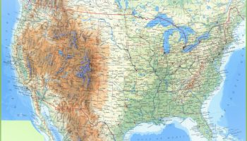 Printable Large Attractive Cities State Map of the USA | WhatsAnswer