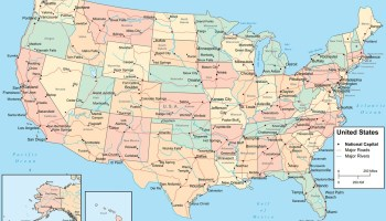road river capital and cities map of the usa