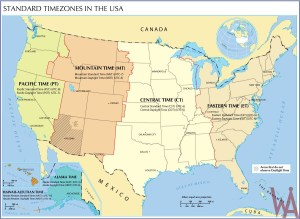 Usa time Zone map 2018 google Maps
