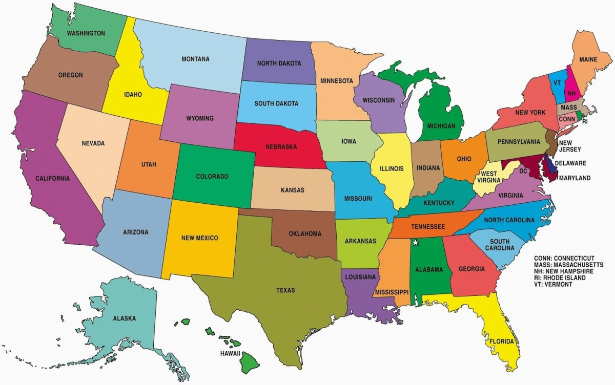 State wise large color map of the USA | WhatsAnswer on color map of connecticut, relief map of connecticut, detailed map connecticut, geological map of connecticut, clear map of connecticut, blank map ohio, blank map maine, us state map of connecticut, physical map of connecticut, map showing cities in connecticut, blank map massachusetts, outline map of connecticut, topographical map of connecticut, blank map new jersey, atlas map of connecticut, blank global map, high resolution outline of connecticut, blank map california, show map of connecticut, political map of connecticut,