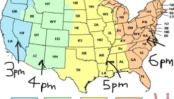 State wise Time Zone Map of the USA | WhatsAnswer