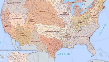 US Major Rivers Map WhatsAnswer - Great rivers of the world map