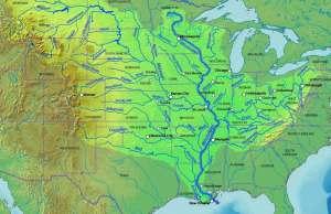 US Mississippi River Map