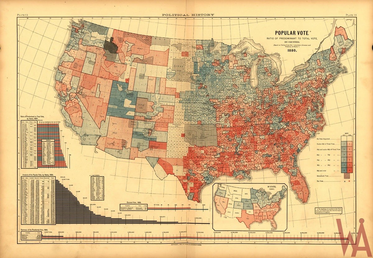county map of the USA