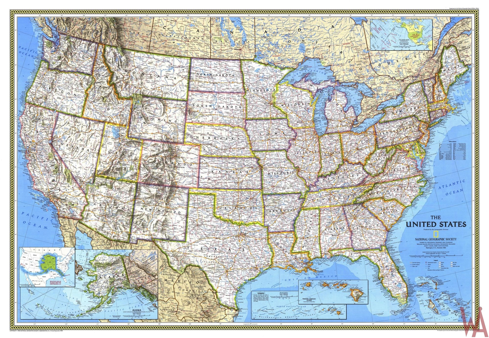 US Maps with States,Cities and Capitals | WhatsAnswer