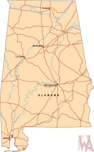 Alabama Labeled  Map |  Labeled  Map of Alabama