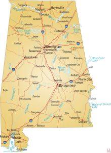Alabama River  Map    River   Map of Alabama