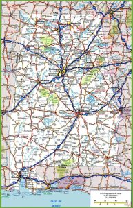 Alabama Road  Map |  Road  Map of Alabama High Resolution