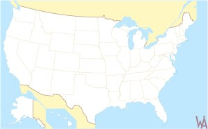 Blank Outline  Map 5 of the USA