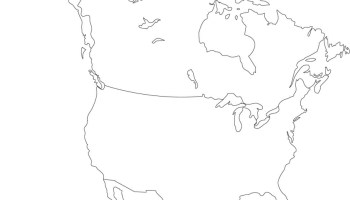 Sketch Map Of North America. Map Of Ocean Sketch, Africa Map ...
